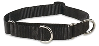 "Lupine Solid 3/4"" Black 10-14"" Martingale Training Collar"