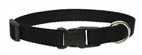 "Lupine Solid 3/4"" Black 13-22"" Adjustable Collar"