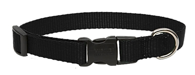 "Lupine Solid 3/4"" Black 15-25"" Adjustable Collar"