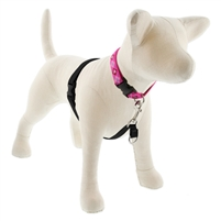 "LupinePet Solid Black 16-26"" No-Pull Harness for Medium Dogs"
