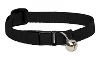 "Lupine 1/2"" Black Safety Cat Collar with Bell"