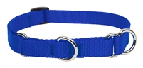 "Lupine Solid 3/4"" Blue 10-14"" Martingale Training Collar"