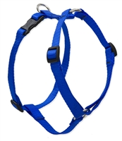 "Lupine Solid 3/4"" Blue 14-24"" Roman Harness"