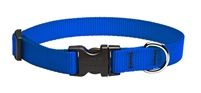 "Lupine Solid 3/4"" Blue 15-25"" Adjustable Collar"