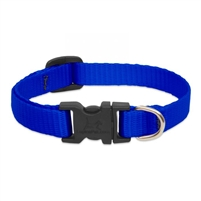 "Lupine Solid 1/2"" Blue 6-9"" Adjustable Collar"