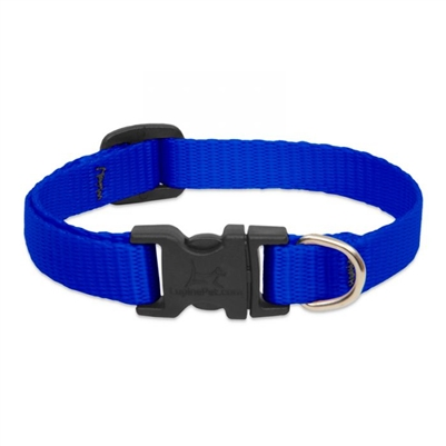 "Lupine 1/2"" Blue 6-9"" Adjustable Collar"