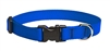 "Lupine Solid 3/4"" Blue 9-14"" Adjustable Collar"