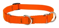 "Lupine Solid 3/4"" Blaze Orange 14-20"" Martingale Training Collar"