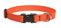 "Lupine Solid 3/4"" Blaze Orange 15-25"" Adjustable Collar"
