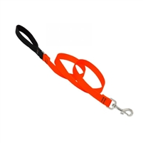 "Lupine Solid 3/4"" Blaze Orange 6' Padded Handle Leash"