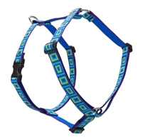 "Lupine 1"" Sea Glass 24-38"" Roman Harness"