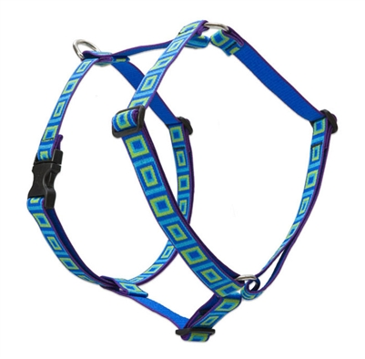"Lupine 1"" Sea Glass 36-44"" Roman Harness"
