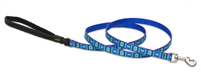 "Lupine 1/2"" Sea Glass 4' Padded Handle Leash"