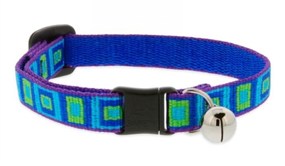 "Lupine 1/2"" Sea Glass Cat Safety Collar with Bell"