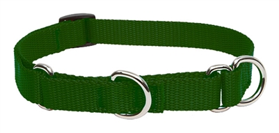 "Lupine Solid 3/4"" Green 10-14"" Martingale Training Collar"