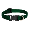 "Lupine Solid 1/2"" Green 10-16"" Adjustable Collar"