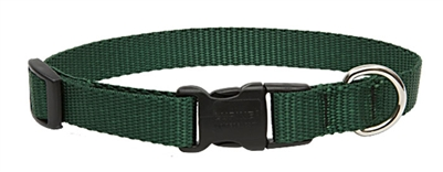 "Lupine Solid 3/4"" Green 15-25"" Adjustable Collar"