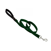 "Lupine 3/4"" Green 4' Padded Handle Leash"