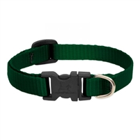 "Lupine Solid 1/2"" Green 6-9"" Adjustable Collar"