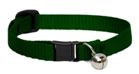 "Lupine 1/2"" Green Cat Safety Collar with Bell"