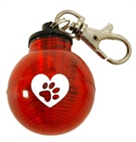 Paw Heart Globe Strobe Light for Collar