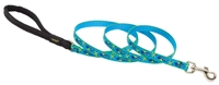 "Retired Lupine 1/2"" Sea Ponies 4' Padded Handle Leash"