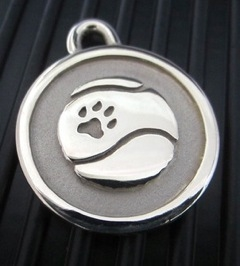 Silver Paw Large Stainless Steel Tennis Ball ID Tag