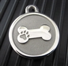 Silver Paw Medium Stainless Steel Bone ID Tag
