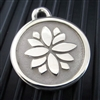 Silver Paw Medium Stainless Steel Lotus ID Tag