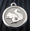 Silver Paw Medium Stainless Steel Squirrel ID Tag