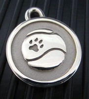 Silver Paw Medium Stainless Steel Tennis Ball ID Tag