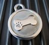 Silver Paw Small Stainless Steel Bone ID Tag
