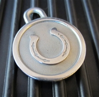 Silver Paw Small Stainless Steel Horseshoe ID Tag