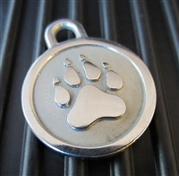 Silver Paw Small Stainless Steel Paw ID Tag