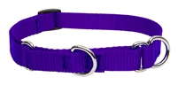 "Lupine Solid 3/4"" Purple 10-14"" Martingale Training Collar"