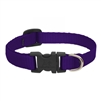"Lupine Solid 1/2"" Purple 10-16"" Adjustable Collar"
