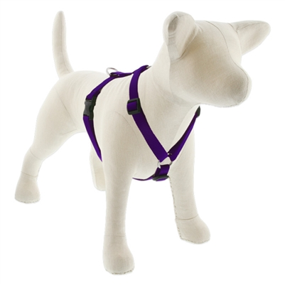 "Lupine Solid 3/4"" Purple 12-20"" Roman Harness"
