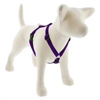 "Lupine Solid 3/4"" Purple 14-24"" Roman Harness"