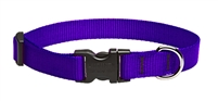 "Lupine Solid 3/4"" Purple 9-14"" Adjustable Collar"