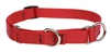 "Lupine Solid 3/4"" Red 10-14"" Martingale Training Collar"