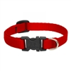 "Lupine Solid 1/2"" Red 10-16"" Adjustable Collar"