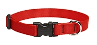 "Lupine 3/4"" Red 15-25"" Adjustable Collar"