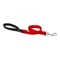 "Lupine Solid 3/4"" Red 2' Traffic Lead"