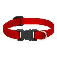 "Lupine Solid 1/2"" Red 6-9"" Adjustable Collar"