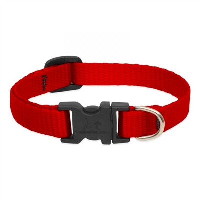 "Lupine 1/2"" Red 8-12"" Adjustable Collar"