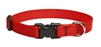 "Lupine Solid 3/4"" Red 9-14"" Adjustable Collar"