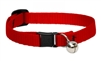 "Lupine 1/2"" Red Cat Safety Collar with Bell"