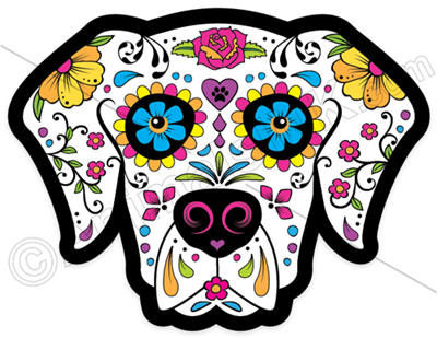 Dog Sugar Skull Magnet
