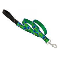 "LupinePet 1"" Tail Feathers 4' Padded Handle Leash"