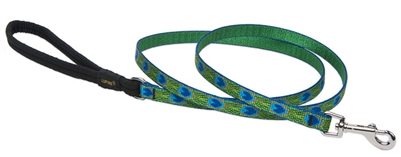 "Lupine 1/2"" Tail Feathers 4' Padded Handle Leash"